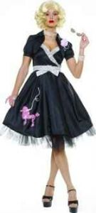 50's Grease Black Hop Diva Fancy Dress Costume